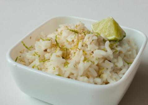 Рис с кунжутом и лаймом