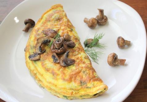 Рецепт - Омлет с грибами