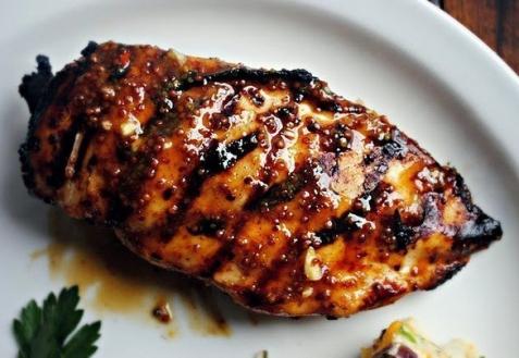 Рецепт - Курица-гриль в медово-горчичном соусе