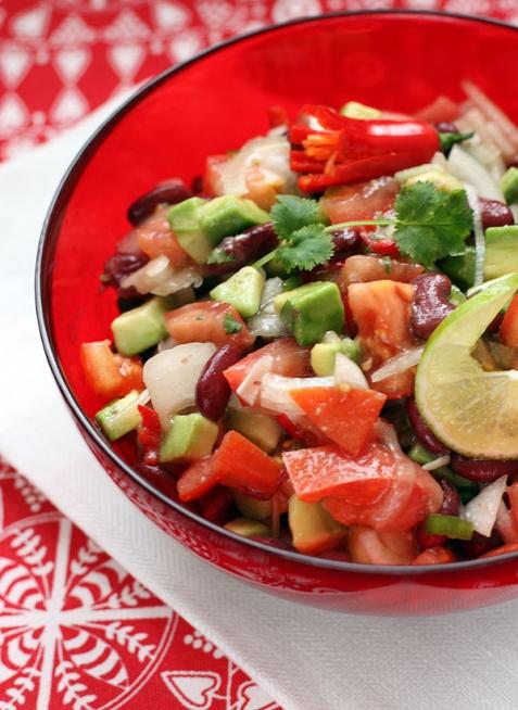 Рецепт - Техасский салат с авокадо