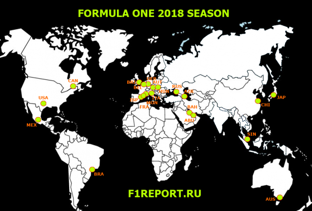 formula 1 calendar 2018