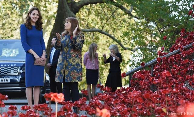 Фото: Цвет настроения синий: Кейт Миддлтон потрясла шикарным платьем