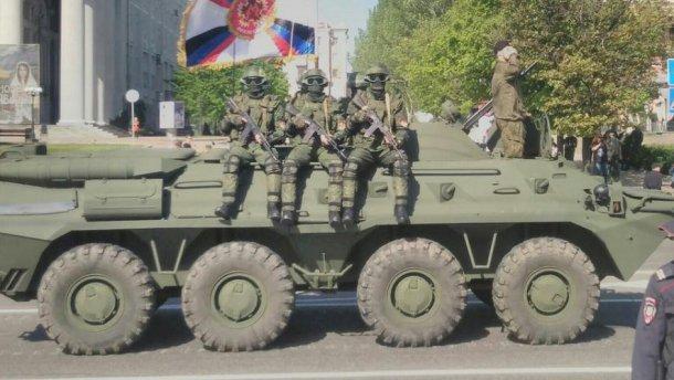 Опубликованы фото подготовки боевиками парада к 9 мая в Донецке (4)