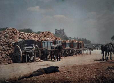 Цветные ретро-снимки Парижа 1923 года. Фото