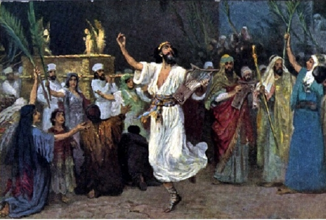 Давид танцует перед Ковчегом Завета. Автор: Ф.Лейтон.