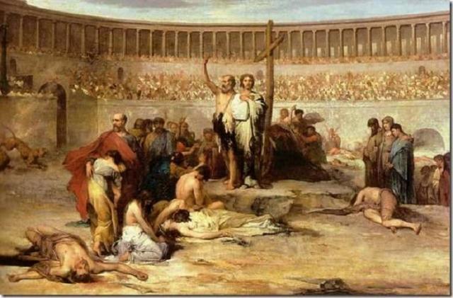 Эжен Тирион. «Триумф Веры — христианские мученики во времена Нерона, 65 год н. э.»
