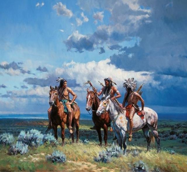 """Результат пошуку зображень за запитом """"Индейцы и ковбои на картинах Мартина Греля (Martin Grelle)"""""""