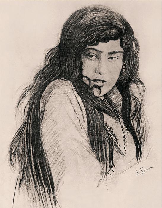 О.Бенуа. «Крымская татарка». /Фото из коллекции музея