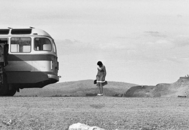 Остановка перед рекой Селенгой. СССР, Республика Бурятия, 1980 год.