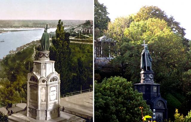 Памятник Крестителю Руси на Владимирской горке в Киеве.