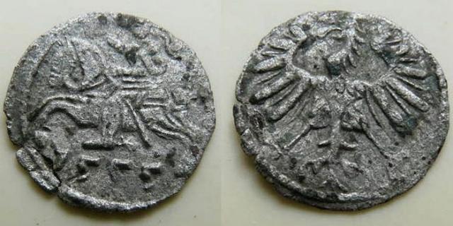 Литовский денарий 1555 (Сигизмунд II Август)./фото: bigcoincollect.com