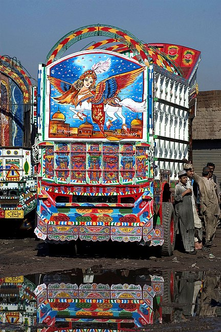 """Результат пошуку зображень за запитом """"Арт -транспорт на дорогах Пакистана."""""""