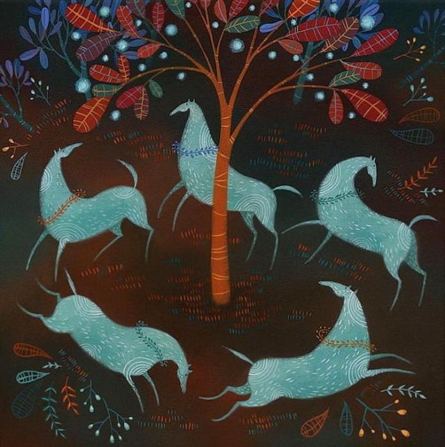 Фото: Дивные сны на полотне: волшебные лошади и другие лесные существа (Фото)