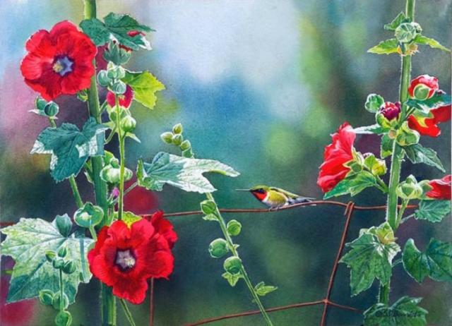 птицы в живописи Susan Bourdet - 13