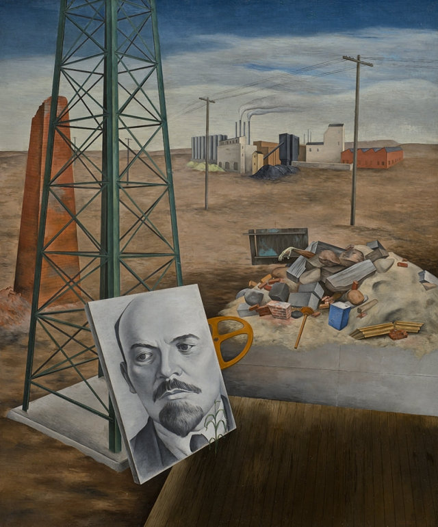 Osvaldo Louis Guglielmi - Phoenix (Portrait in the Desert; Lenin),1935..jpg