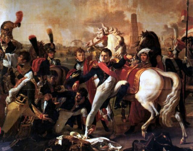 Раненый Наполеон в битве при Регенсбурге. Пьер Готеро. | Фото: pro100-mica.livejournal.com.