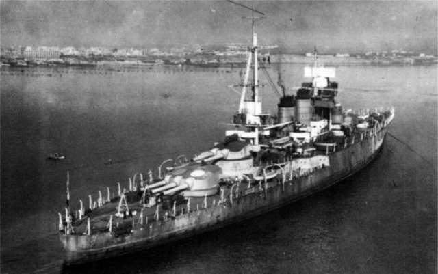 Корабль «Джулио Чезаре» перед передачей в СССР