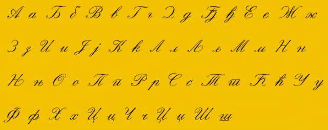 Сербский алфавит./Фото: Credocluster.info