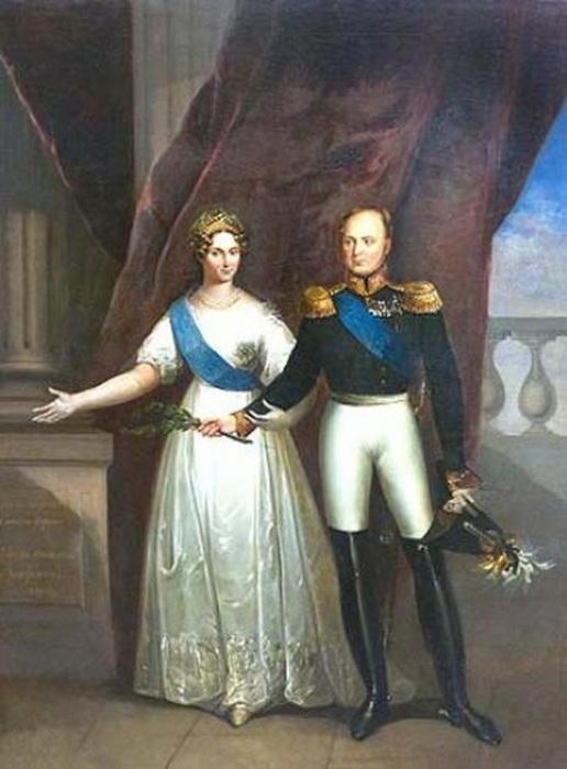 Александр I и его супруга, Елизавета Алексеевна