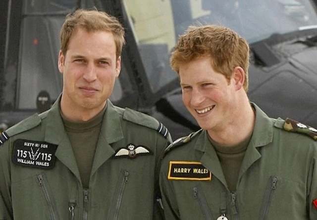 Братья Уильям и Гарри.