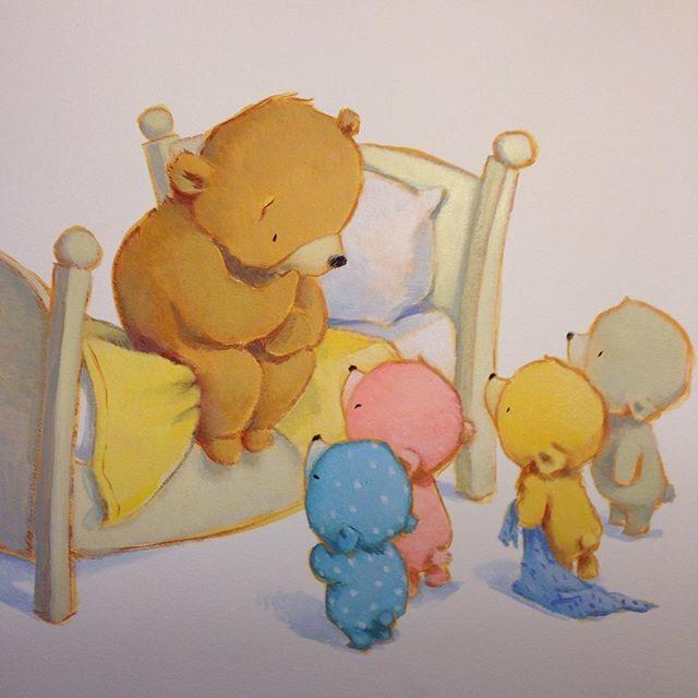 Трогательные детские  иллюстрации Девида Уокера