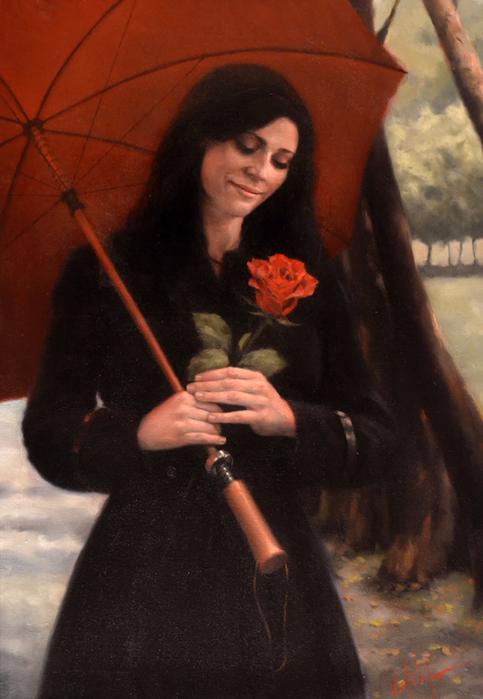 """Результат пошуку зображень за запитом """"Шербургские зонтики...Картины художника Daniel Del Orfano.."""""""