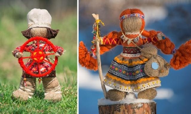 «Спиридон-Солнцеворот» – ладный мужичок./ Кукла Путешественница. Автор: Светлана Шупенко.