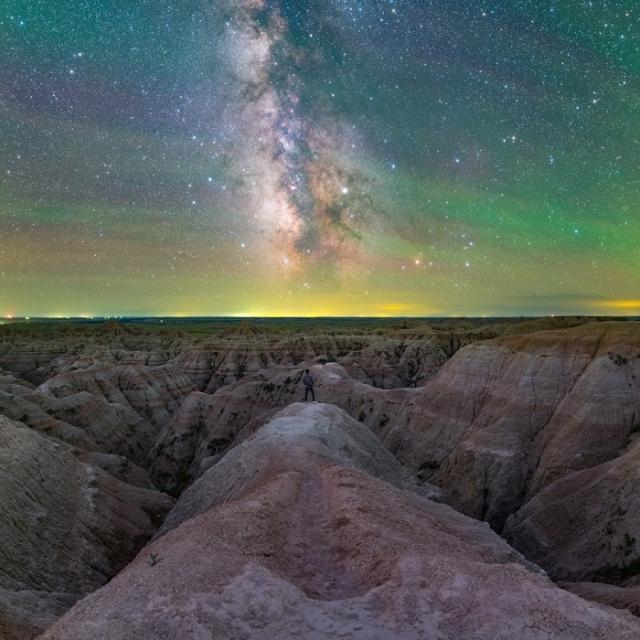 Фото сделано в Национальном парке Badlands, Южная Дакота.