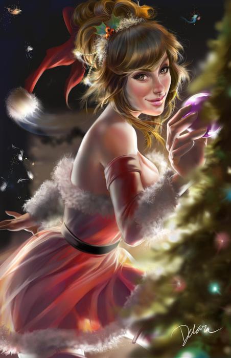 christmas_pinup_by_crisdelaraart-d83xpdh (452x700, 315Kb)