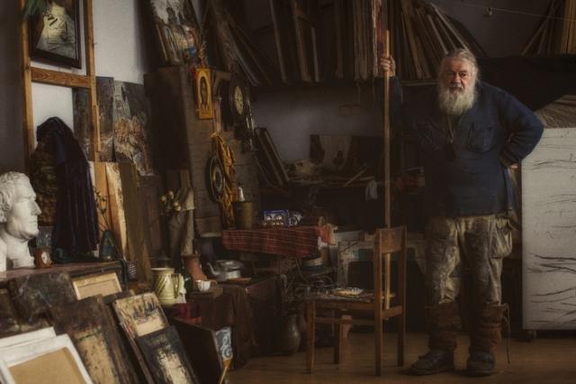 В мастерской художника. / Фото: Юлия Войнич.