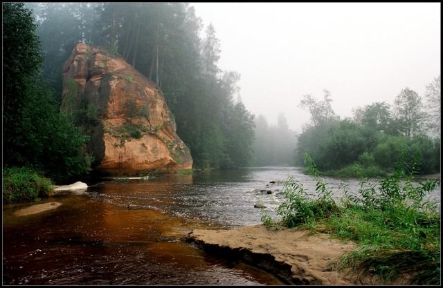 рассвет у реки фото - 07