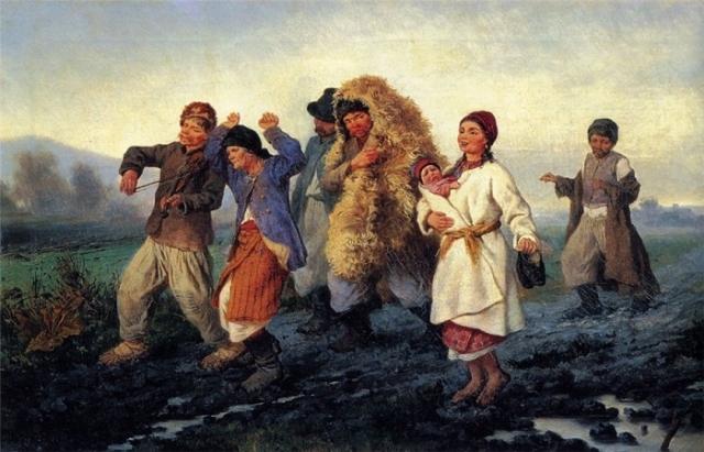 Возвращение с ярмарки. (1868 г.) Автор: Константин Трутовский.