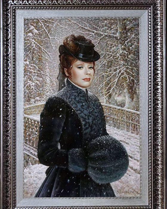 Портрет Аллы Пугачевой. Автор: В.Кошелев. ¦ Фото: fan-club-alla.ru