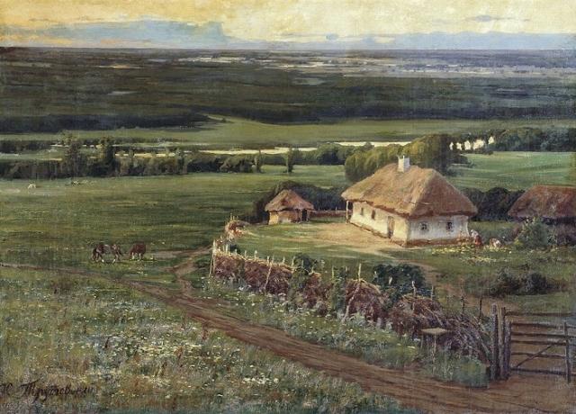 Малороссийский пейзаж. Автор: Константин Трутовский.