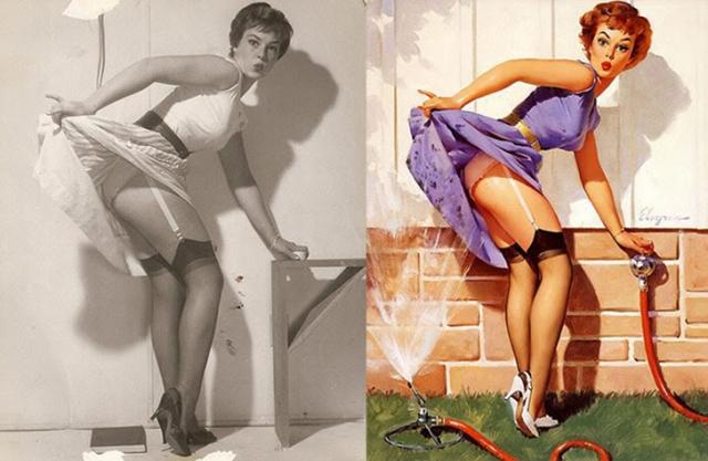 Фото: Какими на самом деле были девушки из самых известных постеров (Фото)