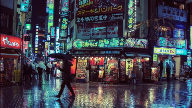 Ночь в Токио. Автор:  Liam Wong.