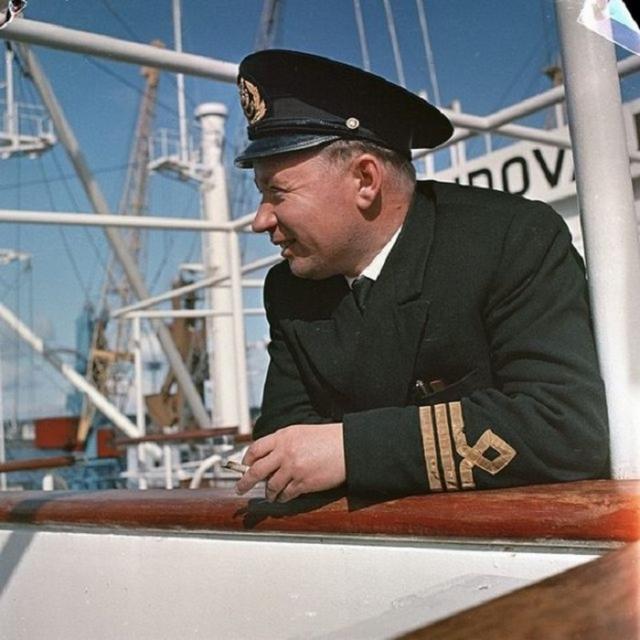 Моряк на Балтийском море.