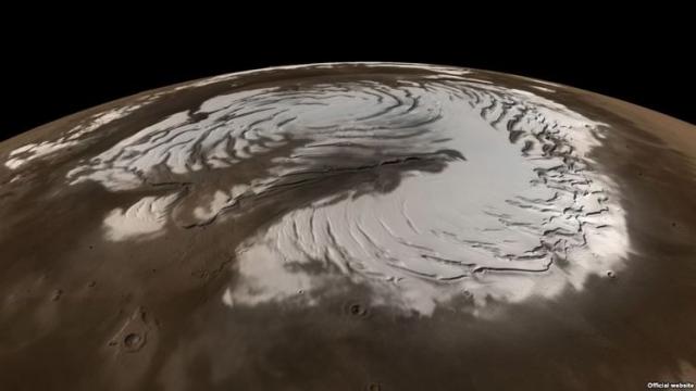 ледник на марсе