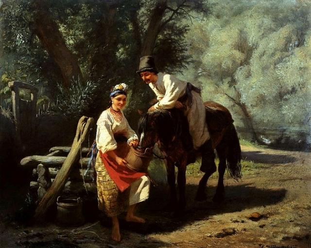 Сцена у колодца (1893). Автор: Константин Трутовский.