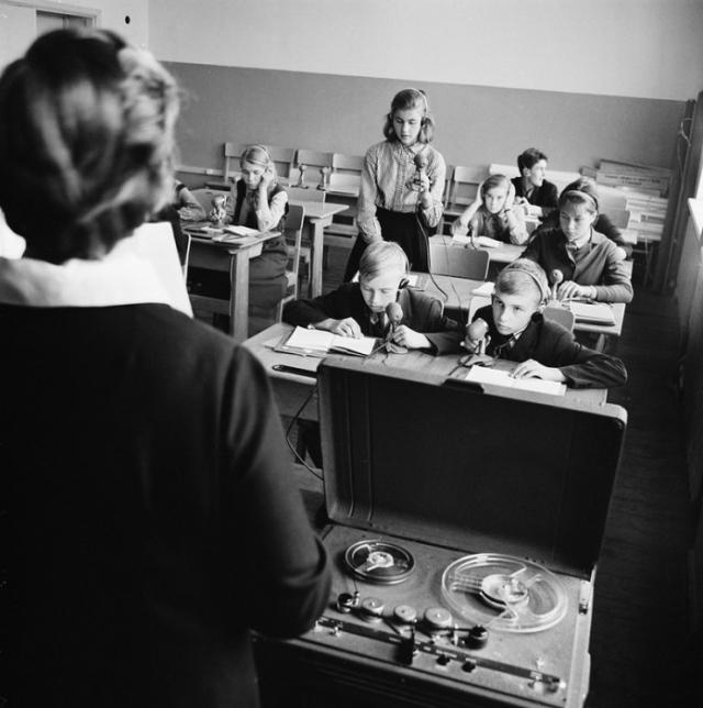 Школьная радиостанция в Таллине. СССР, Эстония, 1964 год.