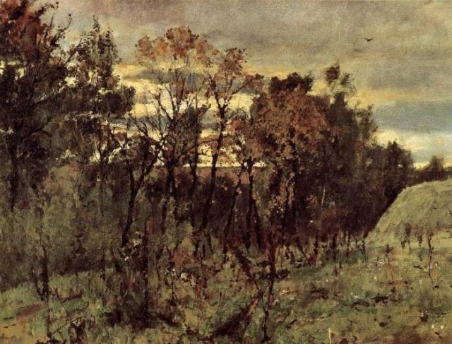 В. Серов. Осенний вечер в Домотканово, 1886 | Фото: artchive.ru