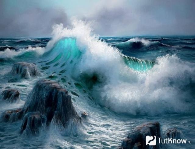 Колебание воды в океане