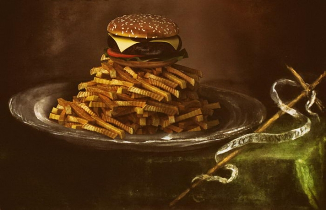Аппетитная картошка фри и сочный гамбургер. Автор: Gabriel Nardelli Araujo.