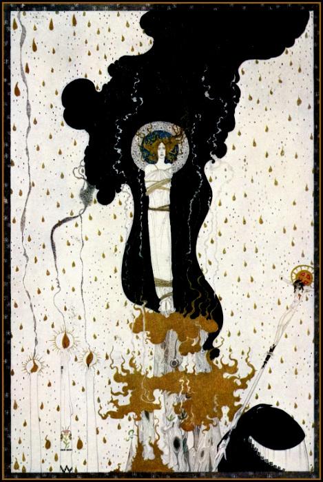 Сожжение Жанны д'Арк, рисунок Кая Нильсена