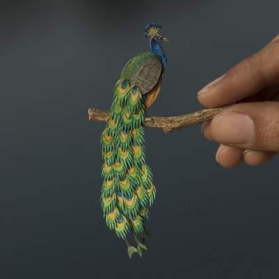 Необычные бумажные скульптуры от индийских мастеров. Фото