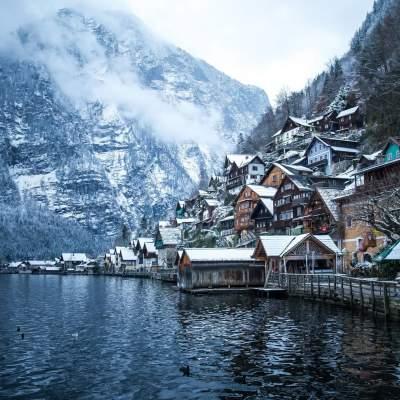 Зимняя Германия в холодных тонах. Фото