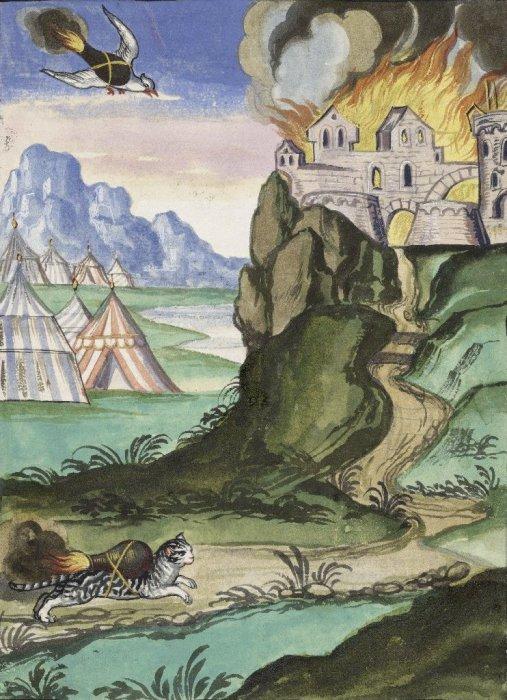 Иллюстрация из книги Ein wahres Probiertes und Pracktisches geschriebenes Feuerbuch, 1607 год. | Фото: luna.folger.edu.