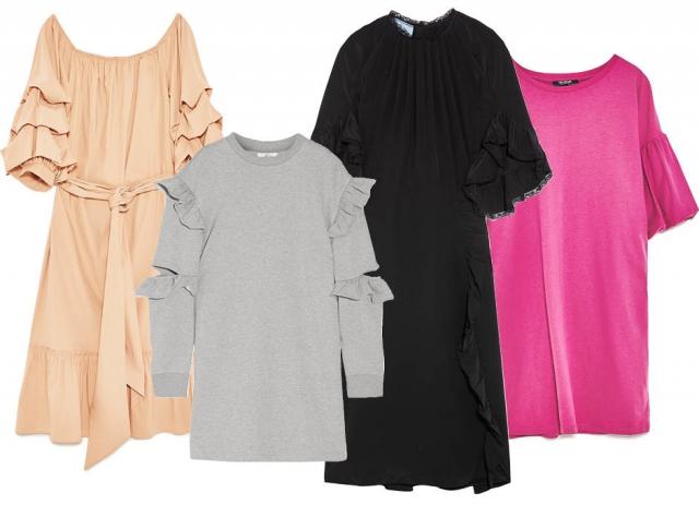 Платья с воланами 2017