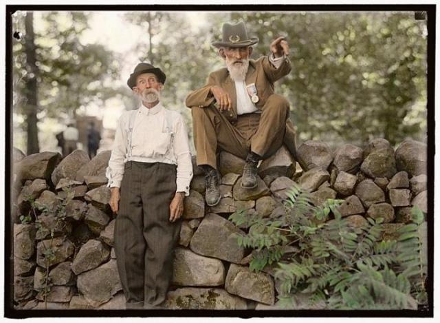 Ветераны уцелевшие в битве при Геттисберге, 1913 год.