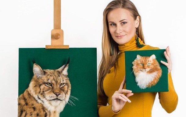 Украинка создает невероятно реалистичные 3D-портреты животных из овечьей шерсти
